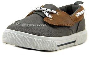 Carter's Cosmo 4 Toddler Moc Toe Canvas Gray Boat Shoe.