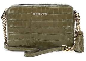 Michael Kors Ginny Embossed-Leather - Crossbody - Olive - 32F7GGNM2E-333 - ONE COLOR - STYLE