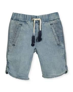 Molo Albert Chambray Drawstring Shorts, Blue, Size 4-12