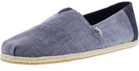 Toms Men's Classic Coated Linen Rope Deep Ocean Ankle-High Canvas Flat Shoe - 10.5M