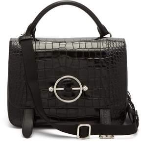 J.W.Anderson Disc patent-leather satchel bag