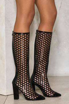 Nasty Gal nastygal City Slicker Knee-High Patent Boot