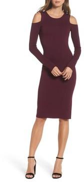 Eliza J Women's Cold Shoulder Knit Body-Con Dress