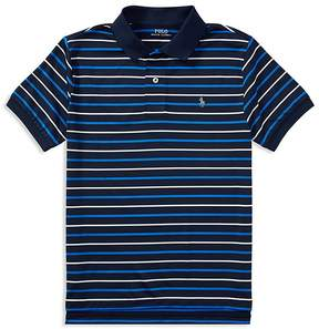 Polo Ralph Lauren Boys' Striped Moisture-Wicking Polo - Big Kid