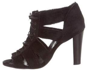 Opening Ceremony Ponyhair Lace-Tie Pumps