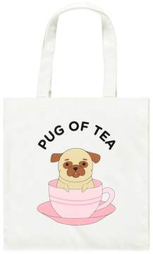 Forever 21 Pug of Tea Graphic Tote