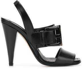 No.21 statement buckle high-heel sandals