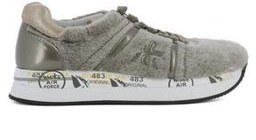 Premiata Beige Fur Sneakers