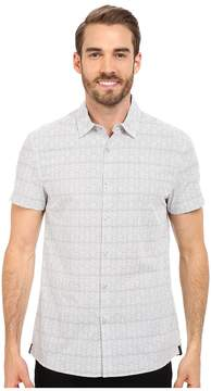 Kenneth Cole Sportswear Wave Printed Button-Front Shirt Men's Short Sleeve Button Up