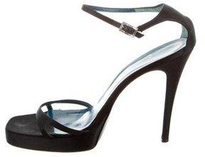 Vera Wang Satin Platform Sandals