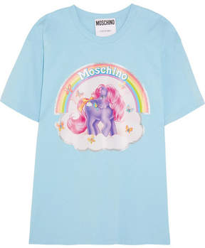Moschino My Little Pony Printed Cotton-jersey T-shirt - Blue