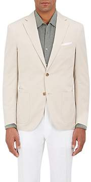 Luciano Barbera MEN'S HERRINGBONE-WEAVE COTTON TWO-BUTTON SPORTCOAT