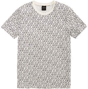 Armani Exchange Men's Allover Logo-Print T-Shirt