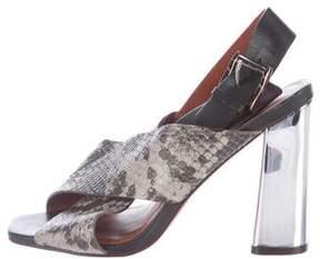 Rebecca Minkoff Embossed Slingback Sandals