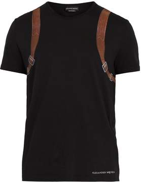 Alexander McQueen Backpack-print cotton T-shirt
