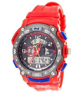 Everlast Men's Analog and Digital Watch - Red