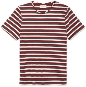 Oliver Spencer Conduit Striped Mélange Cotton-Jersey T-Shirt