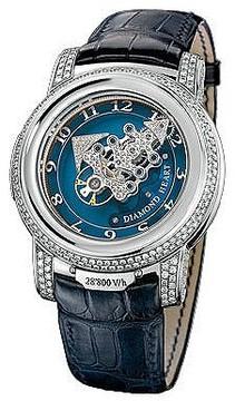 Ulysse Nardin Freak 28'800 V/h Diamond Heart Blue Set With Diamonds Dial Leather Strap Automatic Men's Watch