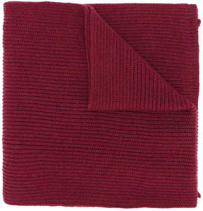 Canali ribbed knit scarf