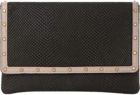 Dune Studded leather envelope clutch bag
