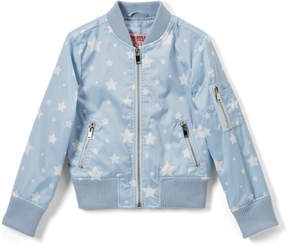 Urban Republic Light Blue Star Sateen Bomber Jacket - Infant, Toddler & Girls