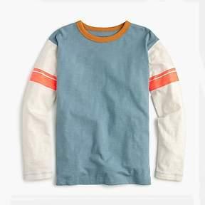 J.Crew Boys' striped long-sleeve ringer T-shirt