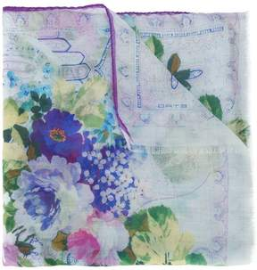 Etro floral print sheer scarf