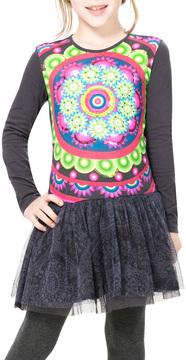 Desigual Floral Ruffle Cotton Dress