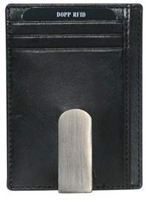 Dopp Men's Rfid Alpha Collection Front Pocket Money Clip.