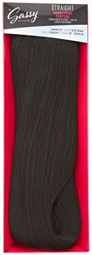 The Sassy Collection Straight Off Black 18 Inch Drawstring Ponytail