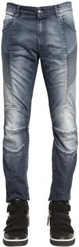 Pierre Balmain 16.5cm Biker Bleached Stretch Jeans