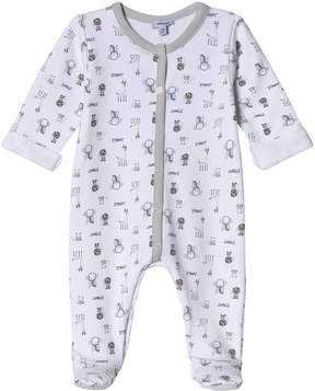 Absorba White Multi Jungle Print Babygrow