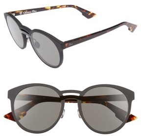 Christian Dior Women's Onde 1 50Mm Round Sunglasses - Black/ Havana