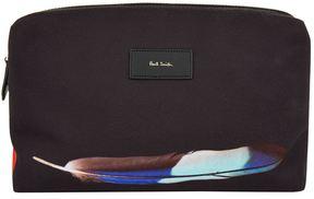 Paul Smith Feather Print Canvas Wash Bag