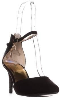 Thalia Sodi Ts35 Vanessa Ankle Strap Pumps, Black Snake.