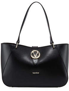 Mario Valentino Valentino By Charlotte Soave Leather Shoulder Tote Bag
