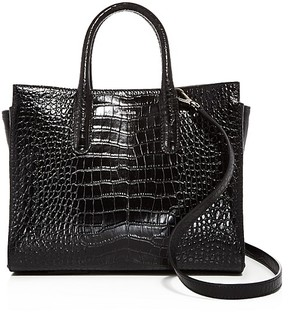 Max Mara Medium Croc-Embossed Leather Tote