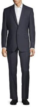 Saks Fifth Avenue BLACK Mini Checkered Wool Suit