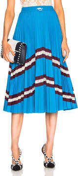 Valentino Pleated Jersey Skirt