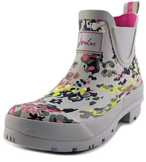 Joules Wellibob Women Round Toe Synthetic Silver Rain Boot.