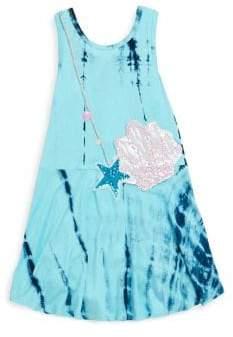 Hannah Banana Little Girl's Tie-Dye Drop-Waist Tank Dress
