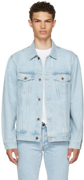 Off-White Blue Oversized Denim Not Real Angel Jacket
