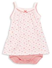Petit Bateau Baby's Strappy Bodysuit Dress