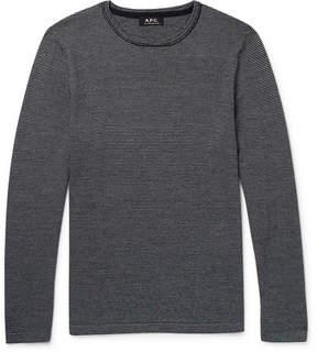 A.P.C. Toby Slim-Fit Striped Merino Wool Sweater