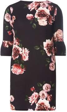 Dorothy Perkins Black Floral Print Shift Dress