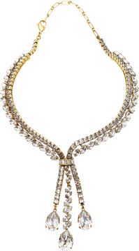 Erickson Beamon Parlor Trick 24K Gold-Plated Crystal Necklace