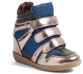 Steve Madden JReggo Metallic High Top Sneaker (Little Kid & Big Kid)