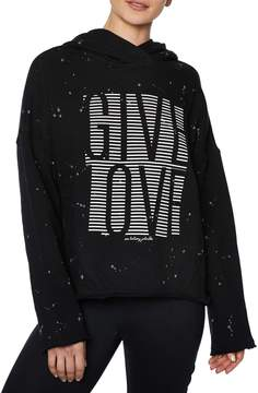 Betsey Johnson SPLATTERED GIVE LOVE HOODIE