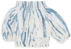 Joe's Jeans Little Girl's Tie Dye Woven Linen Blouse