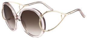 Chloé Jackson Round Oversized Sunglasses